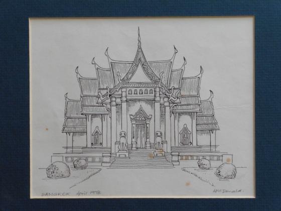 Bangkok temple, 1978